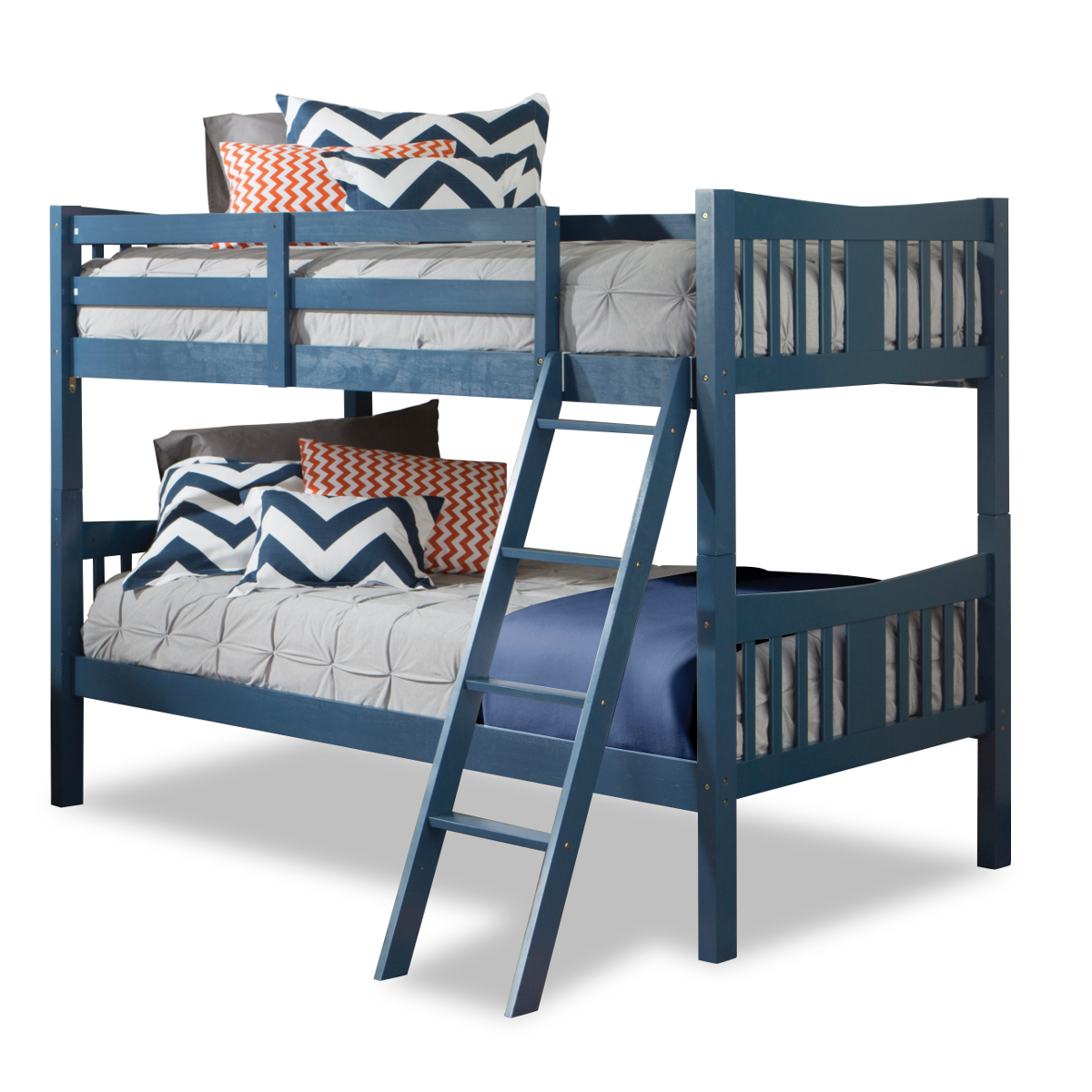 Confidence White Wood Bunk Beds For Kids The Suitable Home