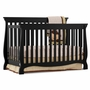 Storkcraft Carrara 4 in 1 Fixed Side Convertible Crib in Black