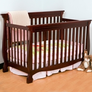Storkcraft Carrara 4 in 1 Fixed Side Convertible Crib in Cherry