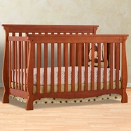 Storkcraft Carrara 4 in 1 Fixed Side Convertible Crib in Cognac
