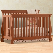 Storkcraft Carrara 4 in 1 Fixed Side Convertible Crib in Oak