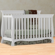 Storkcraft Carrara 4 In 1 Fixed Side Convertible Crib In White