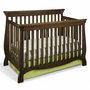 Storkcraft Carrara Fixed Side Convertible Crib in Dove Brown