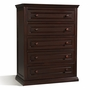 Storkcraft Concord 5 Drawer Dresser with Tufflink Assembly in Espresso