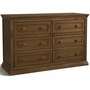 Storkcraft Concord 6 Drawer Dresser with Tufflink Assembly in Dove Brown