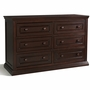Storkcraft Concord 6 Drawer Dresser with Tufflink Assembly in Espresso