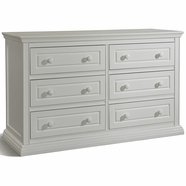 Storkcraft Concord 6 Drawer Dresser with Tufflink Assembly in White