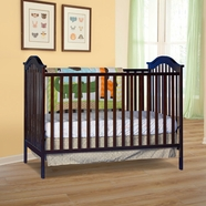 Storkcraft Hampton 2-in-1 Fixed Side Convertible Crib in Espresso