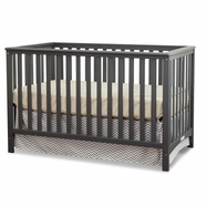Storkcraft Hillcrest Convertible Crib in Gray