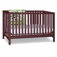 Storkcraft Hillcrest Fixed Side Convertible Crib in Cherry