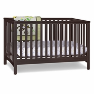 Storkcraft Hillcrest Fixed Side Convertible Crib in Espresso