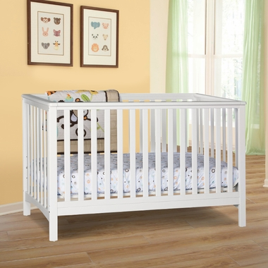 Storkcraft Hillcrest Fixed Side Convertible Crib In White