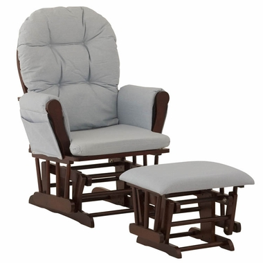 Storkcraft Hoop Glider and Ottoman Cherry//Denim