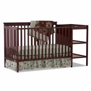 Storkcraft Milan Crib & Changer Combo in Cherry