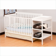 Storkcraft Milan Crib & Changer Combo in White