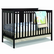 Storkcraft Mission Ridge Convertible Crib in Espresso