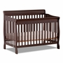 Storkcraft Modena 4 in 1 Fixed Side Convertible Crib in Espresso