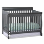 Storkcraft Modena Fixed Side 4 in 1 Convertible Crib in Gray