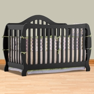 Storkcraft Monza I Convertible Crib in Black