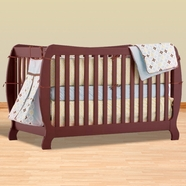Storkcraft Monza II Fixed Side Convertible Crib in Cherry