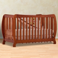 Storkcraft Monza II Fixed Side Convertible Crib in Cognac