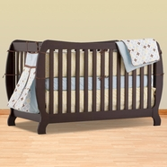 Storkcraft Monza II Fixed Side Convertible Crib in Espresso