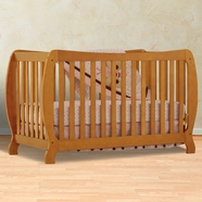 Storkcraft Monza II Fixed Side Convertible Crib in Oak