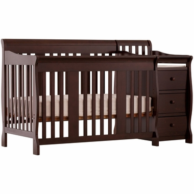 Storkcraft Portofino 4 In 1 Fixed Side Convertible Crib Changer Combo Espresso Click