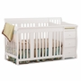 Storkcraft Portofino 4 in 1 Fixed Side Convertible Crib Changer in White