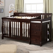 Storkcraft Portofino Convertible Crib & Changer Combo in Espresso