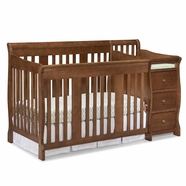 Storkcraft Portofino Convertible Crib in Dove Brown