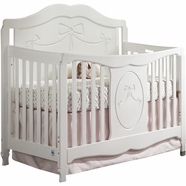 Storkcraft Princess 4-in-1 Convertible Crib in White