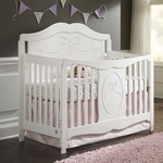 Storkcraft Princess 4-in-1 Fixed Side Convertible Crib in White