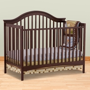 Storkcraft Ravena Fixed Side Convertible Crib in Espresso