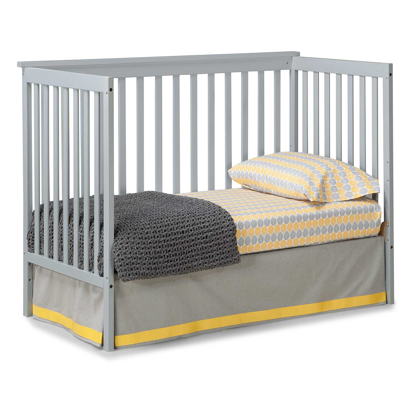 storkcraft sheffield ii convertible crib in gray free shipping