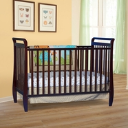 Storkcraft Sleigh 2-in-1 Fixed Side Convertible Crib in Espresso