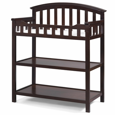 Storkcraft Sorrento Changing Table with pad in Espresso - Click to enlarge