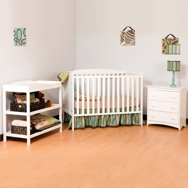 Storkcraft Turin Nursery In a Box in White - Click to enlarge