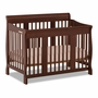 Storkcraft Tuscany 4 in 1 Convertible Crib in Cherry