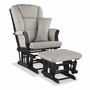 Storkcraft Tuscany Custom Glider and Ottoman in Black and Taupe Swirl
