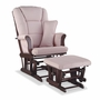 Storkcraft Tuscany Custom Glider and Ottoman in Cherry and Pink Blush Swirl
