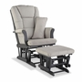 Storkcraft Tuscany Custom Glider and Ottoman in Gray and Taupe Swirl