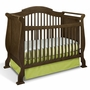 Storkcraft Valentia 4-in-1 Convertible Crib in Dove Brown