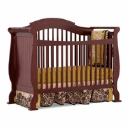 Storkcraft Valentia Fixed Side Convertible Crib in Cherry