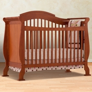 Storkcraft Valentia Fixed Side Convertible Crib in Cognac