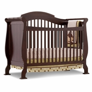 Storkcraft Valentia Fixed Side Convertible Crib in Espresso