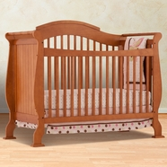 Storkcraft Valentia Fixed Side Convertible Crib in Oak