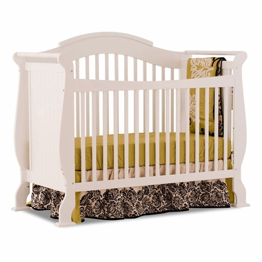 Storkcraft White Valentia Fixed Side Convertible Crib Free