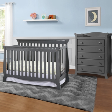 Storkcraft Venetian 2 Piece Nursery Set Convertible Crib