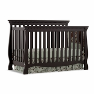 Storkcraft Venetian 4 in 1 Fixed Side Convertible Crib in Black